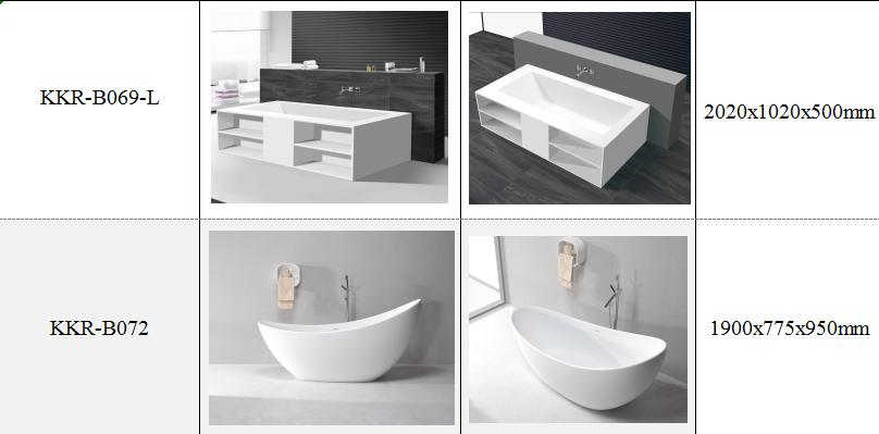 wall hung solid surface stone white washbasin
