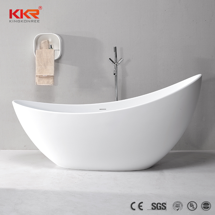 White Matt Stone Freestanding model Bathtub