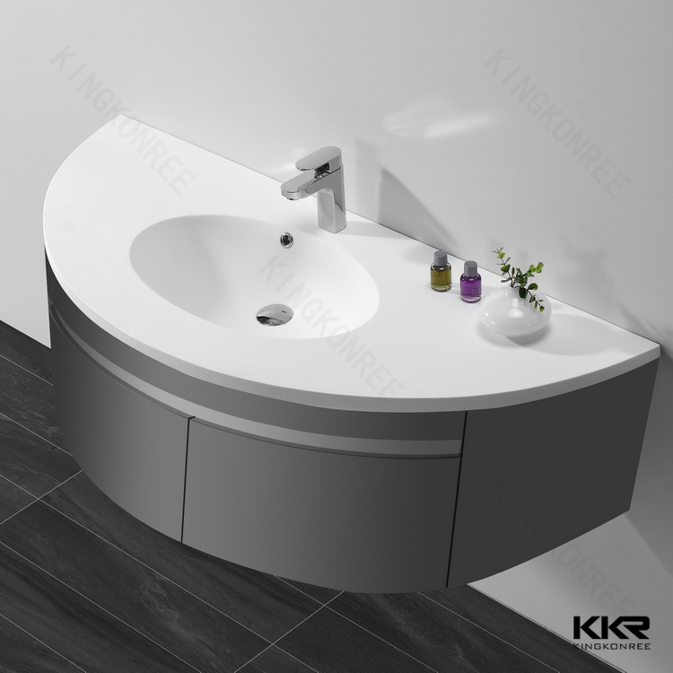 Half Round Corner Bathroom Cabinet Wash Basin