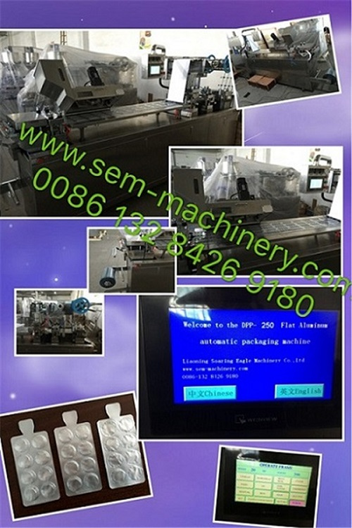 Automatic Tablet capsule pill candy blister packing machine