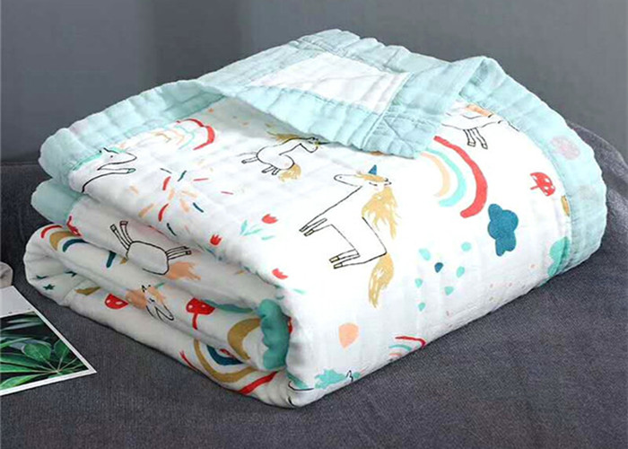 Baby Muslin Gauze Cotton Printed Fabric