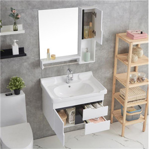 Bathroom Wall Storage Cabinet in White wall hung for space saving  OEM wall hung Bathroom Cabinet