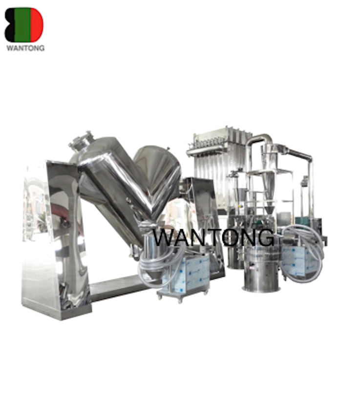 V shaped mixer mixing production line