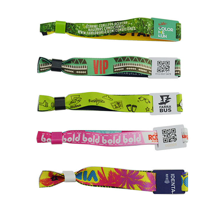 Custom Printing NFC Fabric Wristband  festival wristbands for sale
