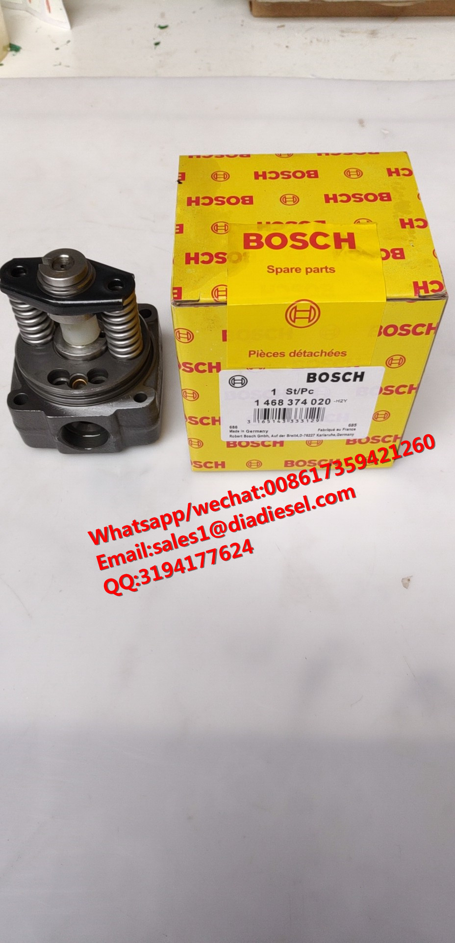 High quality CNDIP diesel fuel VE pump Head Rotor 1 468 374 020 4cylinder for sale