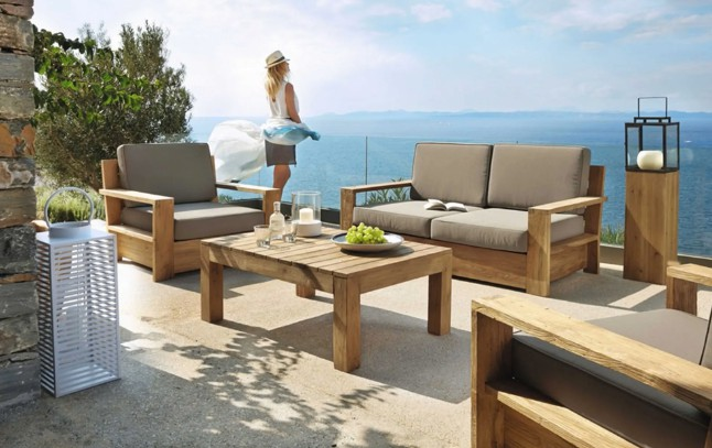 Outdoor Teak Sofa