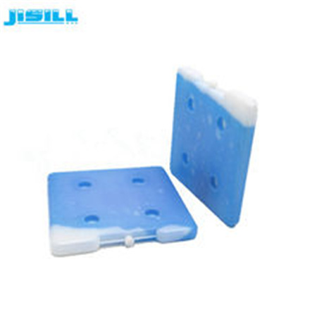 High quality square shape 26*26*2.5 cm HDPE hard plastic reusable ice brick gel ice packs in cooler box