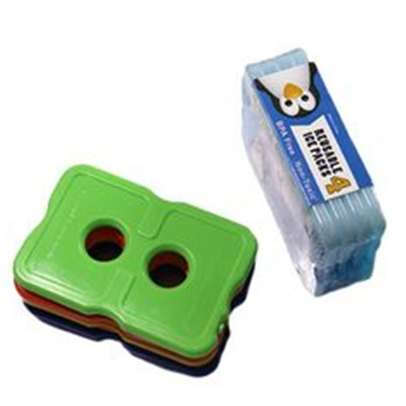 Two holes hard plastic slim cool cooler food gel ice pack for cooler bag