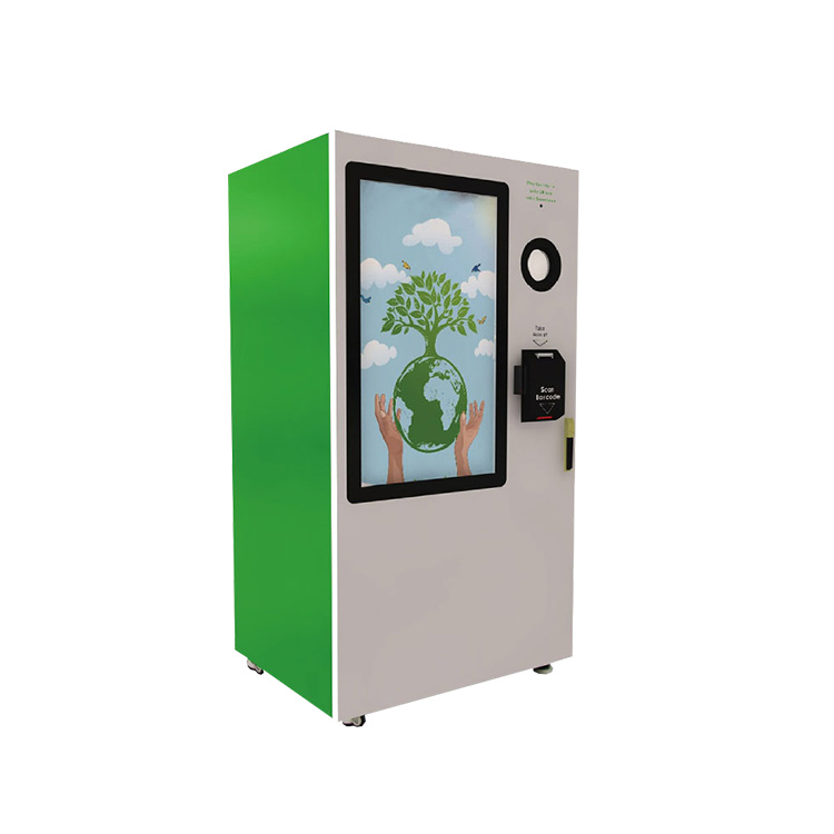 Touch screen reverse vending machine