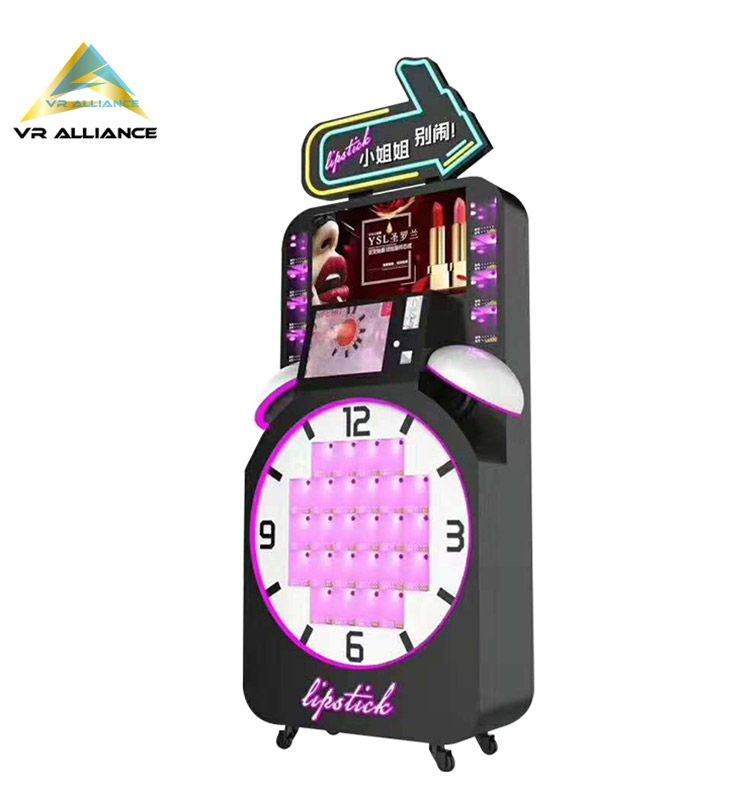 Touch Screen Lipstick Cosmetic Prize Game Gift Vending Machines With Adverting Display