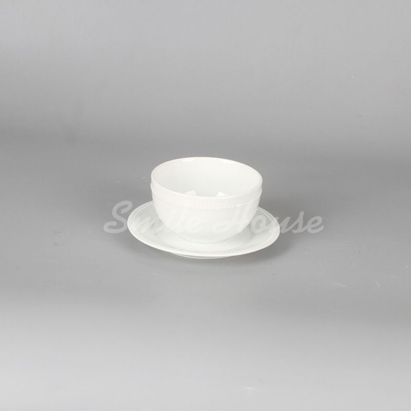 Wholesale round ceramic rice cups and dishes