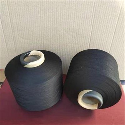 Black Polyester Covered Yarn For Underwear