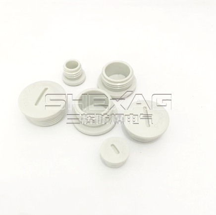 custom color Nylon threaded plug