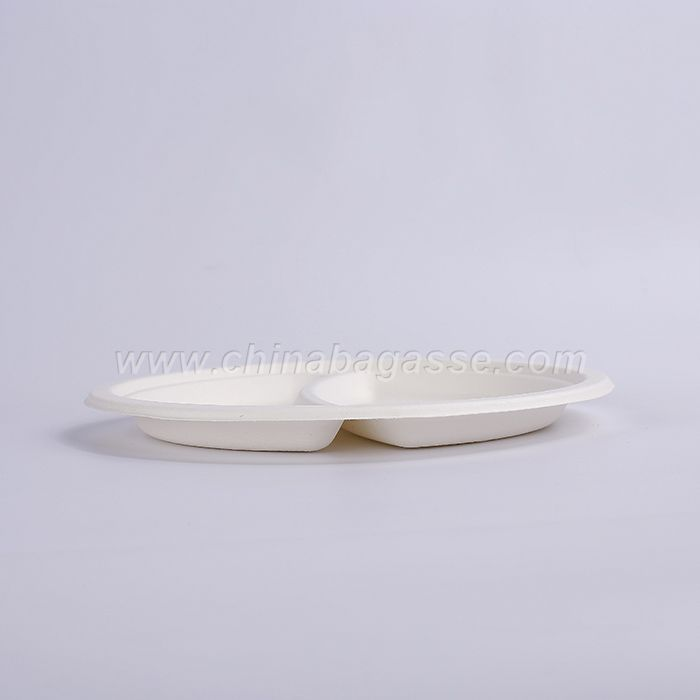 Biodegradable 9 Inch 2 Com Plate