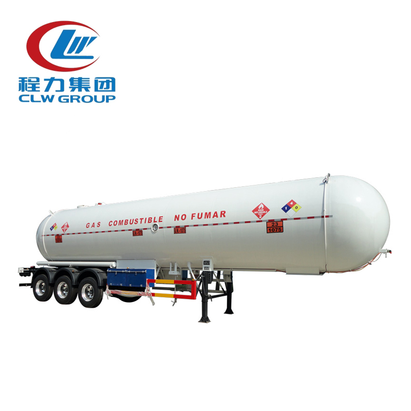 3 Axles 56000 Liters LPG Tank Semi Trailers