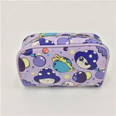 Simple Style PU Cosmetic Pouch