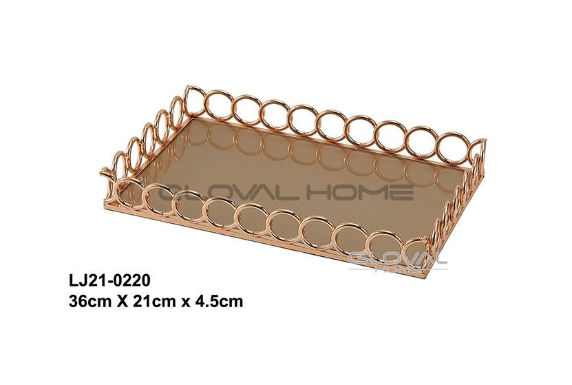 metal gold tray