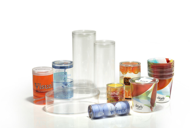 Clear Plastic Tube and Round Packaging
