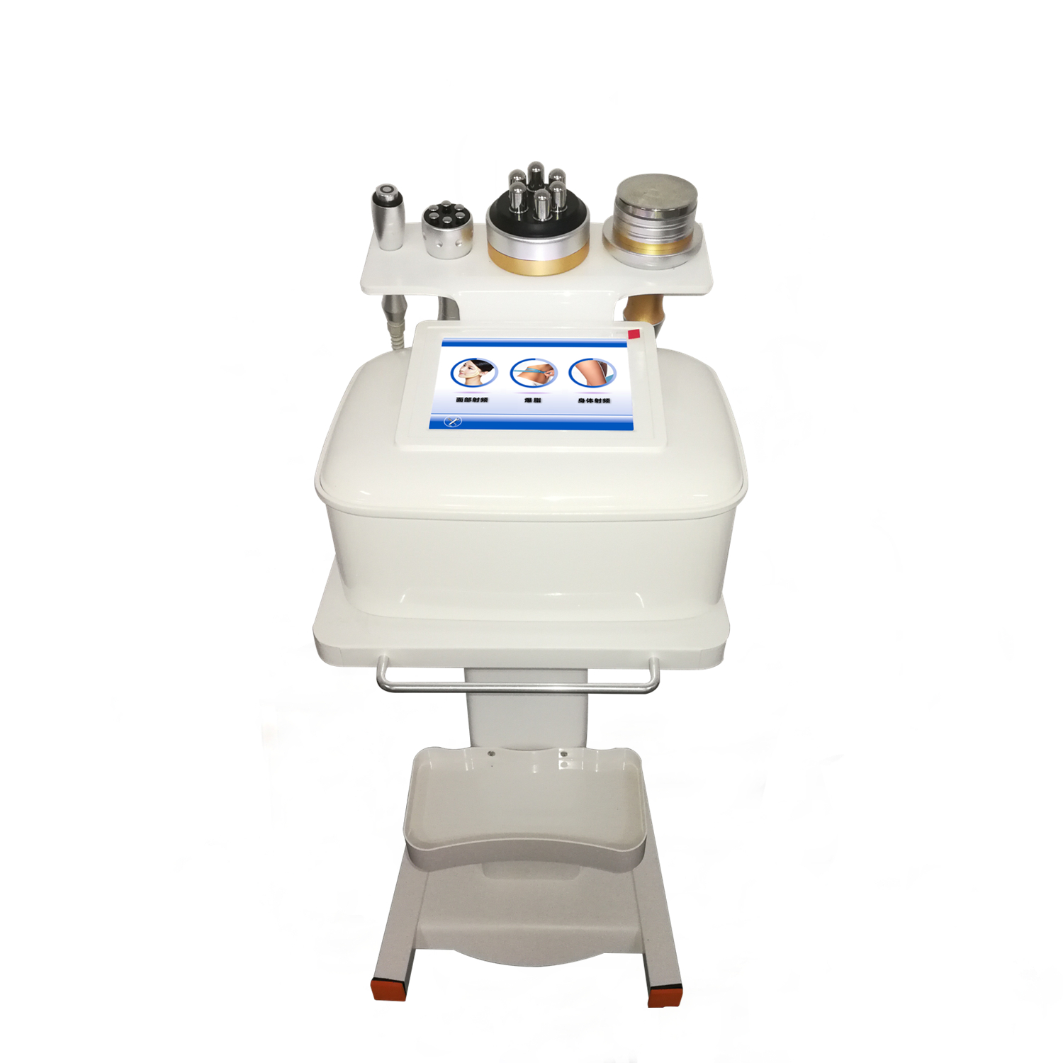 Portable 4 in 1 40K Ultrasound Cavitation Weight Loss Slimming + RF Facial /Eye Therapy Machine