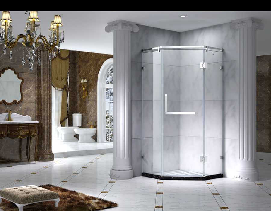 Luxury Style Framed Prime Quadrant Shower Enclosure With Sliding Door, AB 1231