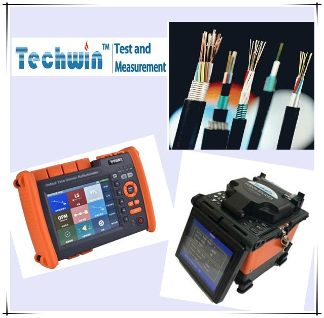 Techwin Fusion Splicer and OTDR for optic fiber cable project