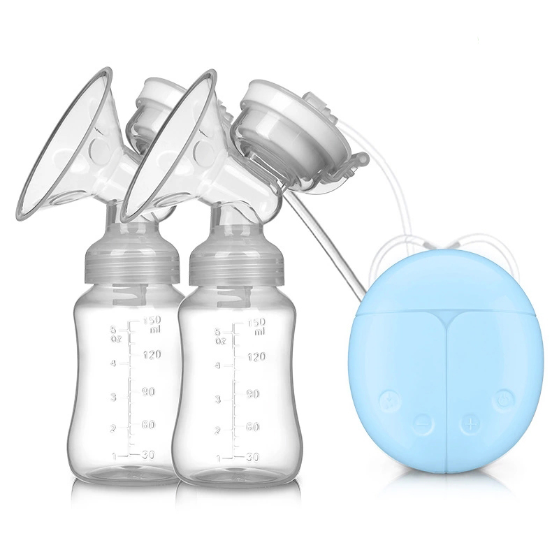Electric Double Breast Pumps, Breast Pump Safe Milk Storage Bottle Dual Control Milk Suction and Breast Massager Breast Care with USB and Lid for Baby Breastfeeding by Mammafeed,3 colors