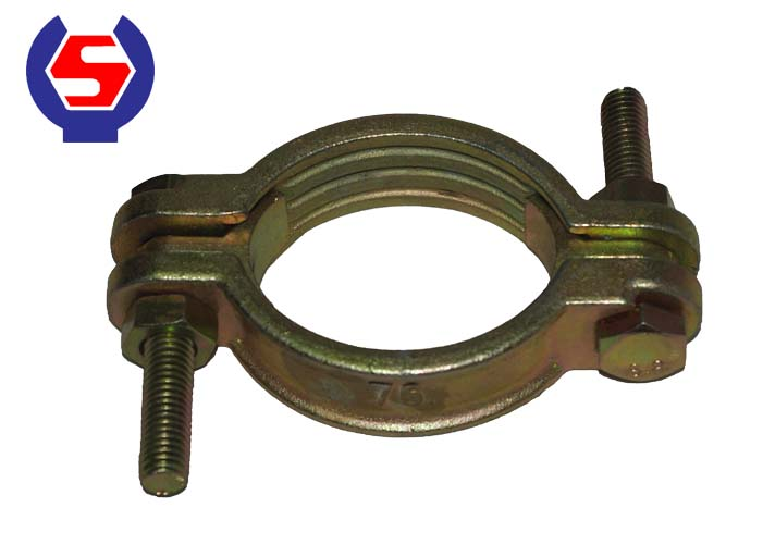 Malleable Iron Double Bolt Hose Clamps