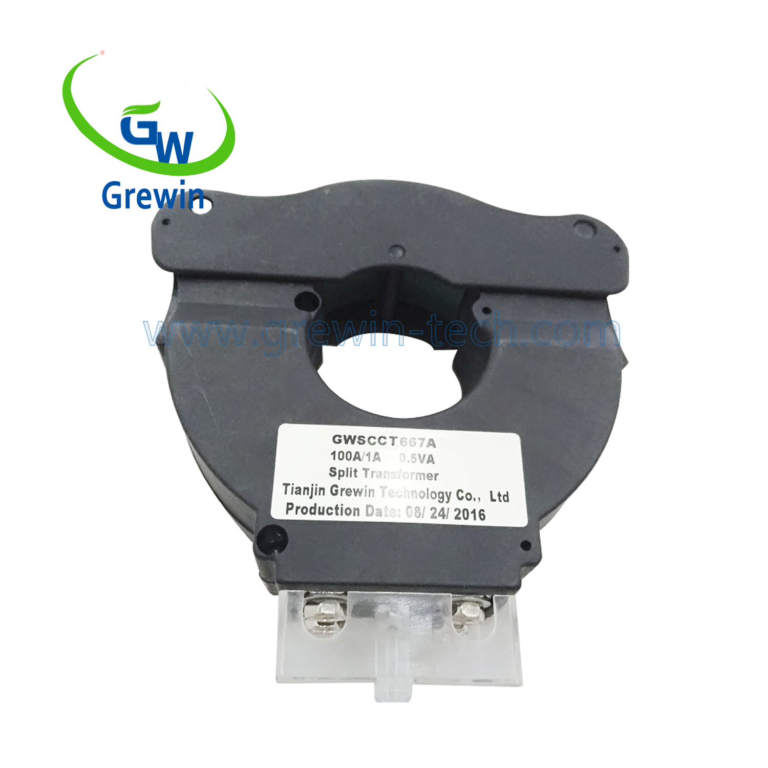 Grewin 50-400Hz Silicon steel split core current transformer 0.333v for energy monitoring device