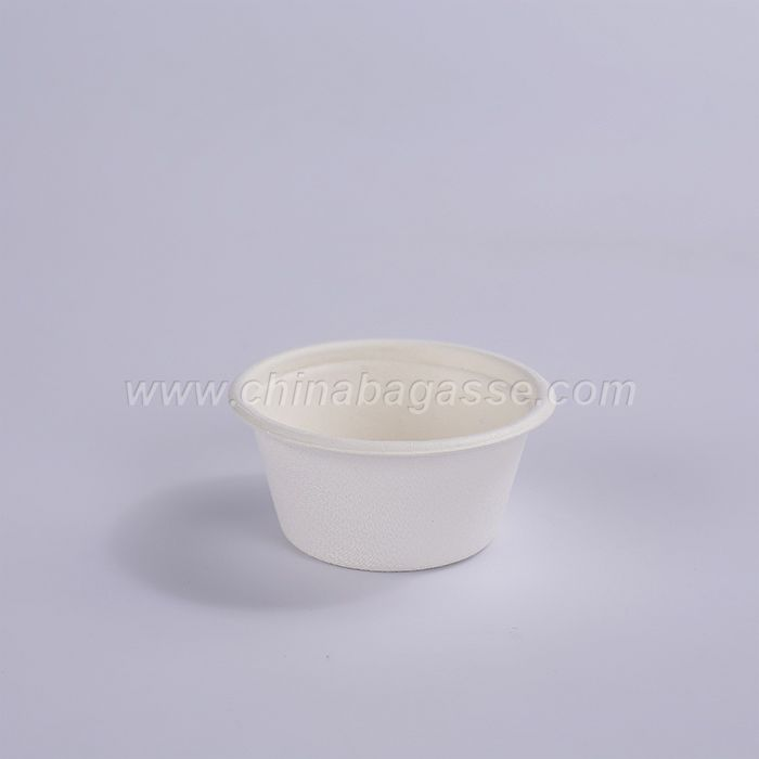 2oz White Disposable Cup 100% Biodegradable Sugarcane Food Container