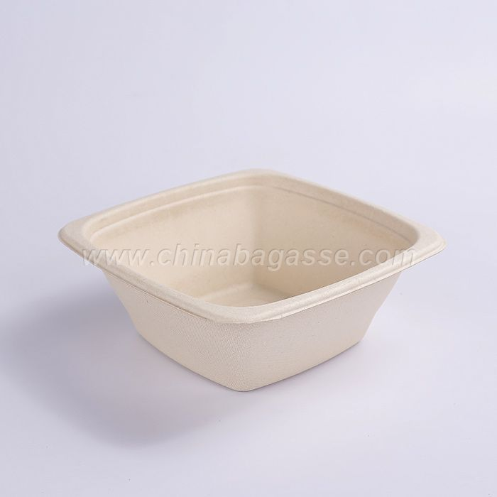 Biodegradable paper pulp sugarcane bagasse tableware big bowls 32oz