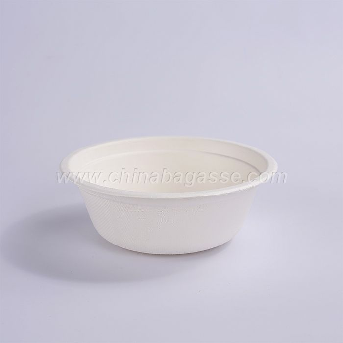 Disposable 12OZ 350ml biodegradable Sugarcane tableware bowl