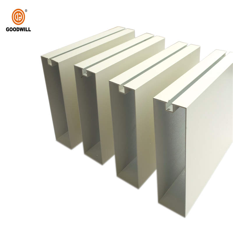 Fashionable Metal Ceiling Serie Aluminum Baffle Ceiling Cladding Design For Interior or exterior decoration