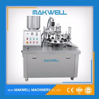 semi-automatic plastic tube filling sealing machine