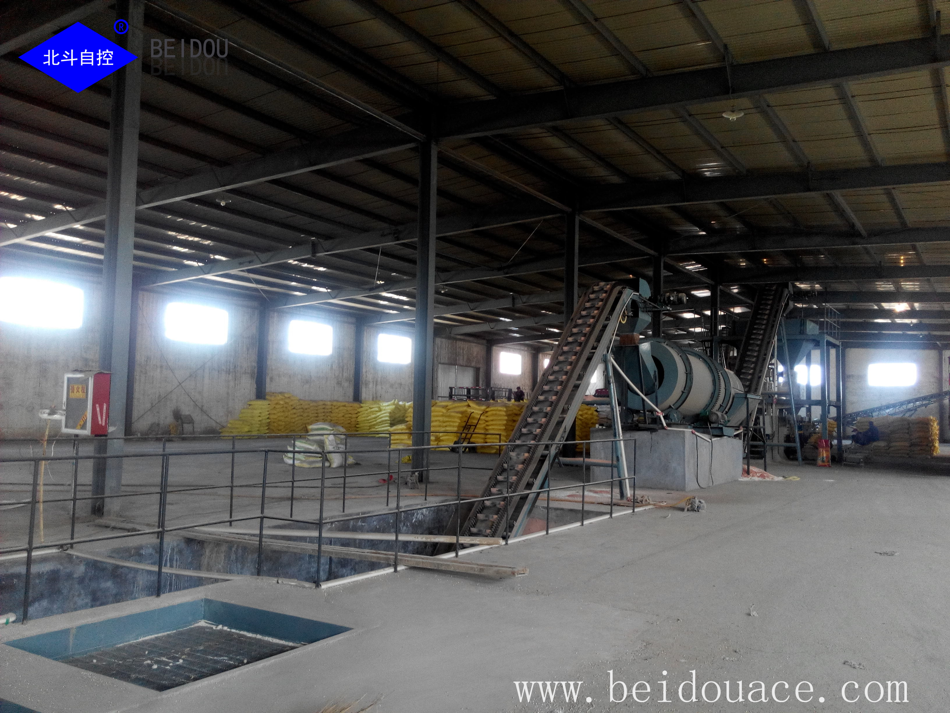 bulk blending fertilizer system