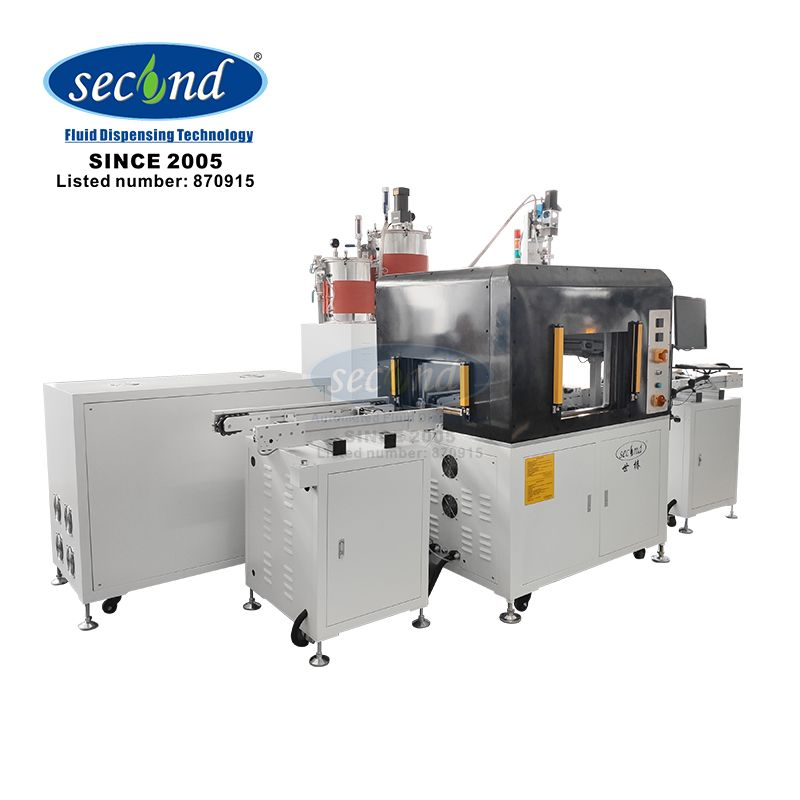 SEC-400ZL CE certificated AB glue two component inline vacuum potting machine for LED and mobile phone