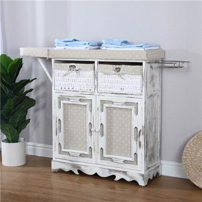 Wooden Ironing Board Cabinet