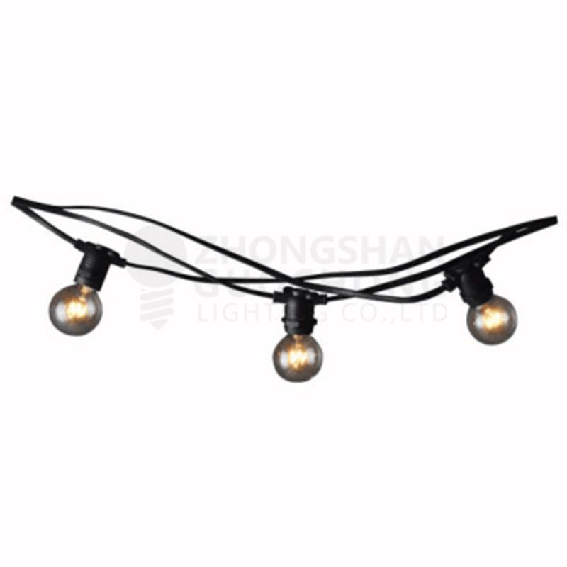Outdoor commercial weatherproof string light