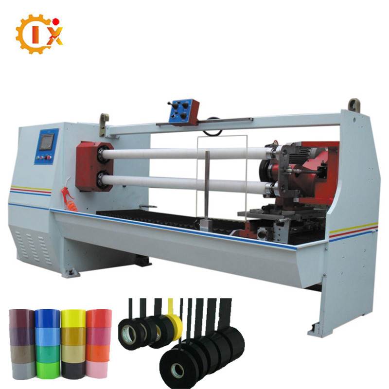 GL- 702 double shafts , double blades Automatic medical cotton tape / masking tape / pvc electrical tape cutting machine