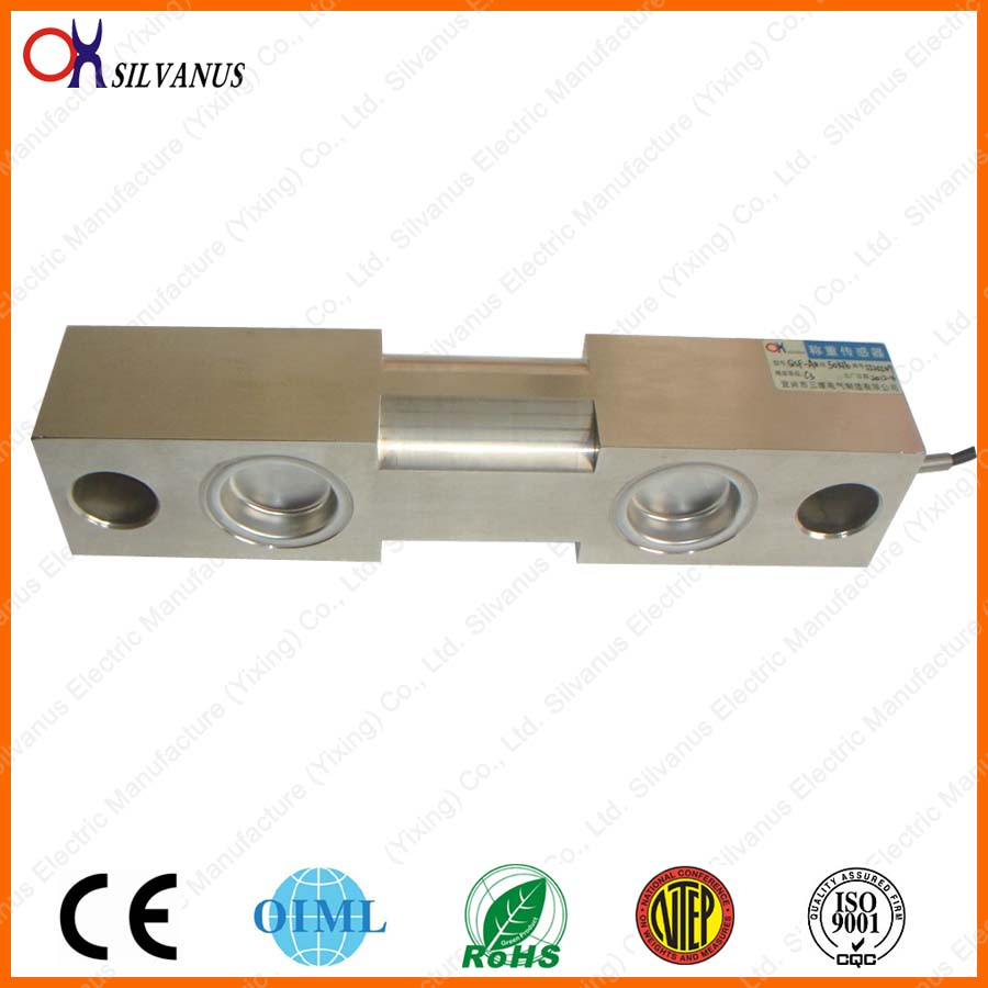 Bridge type Double Ended Shear Beam Load Cell QSF50~75klb weighing scales for electronic truck scale