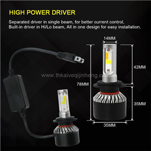 S2 three color dimming explosion flashed automobile LED headlamp refitted LED lamp fog lamp H4 H7 H11  retrofit fog lamp