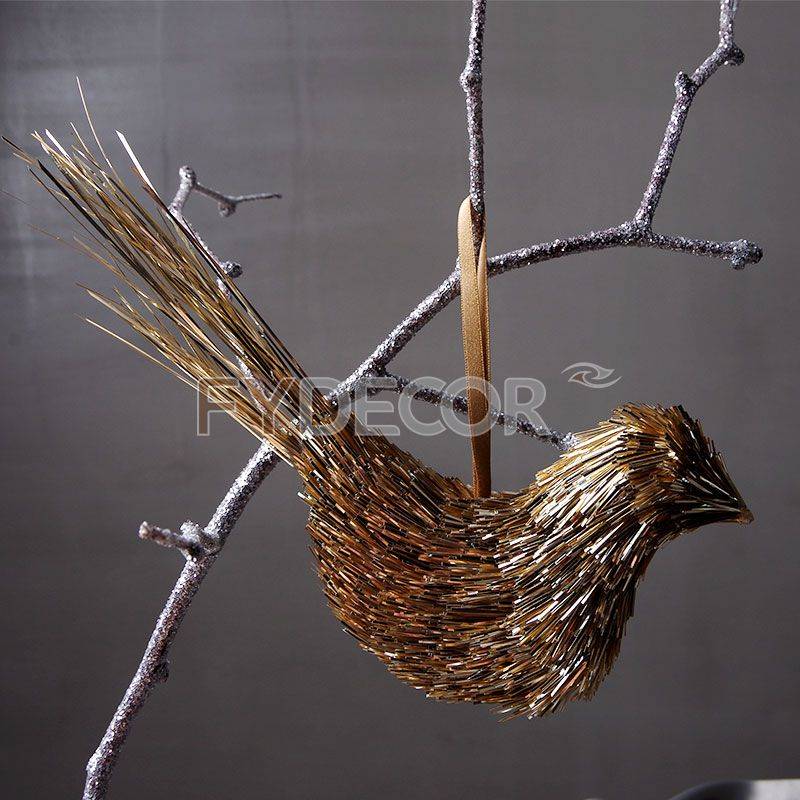 Gold Bird Hanging Ornament for Wedding Decoration