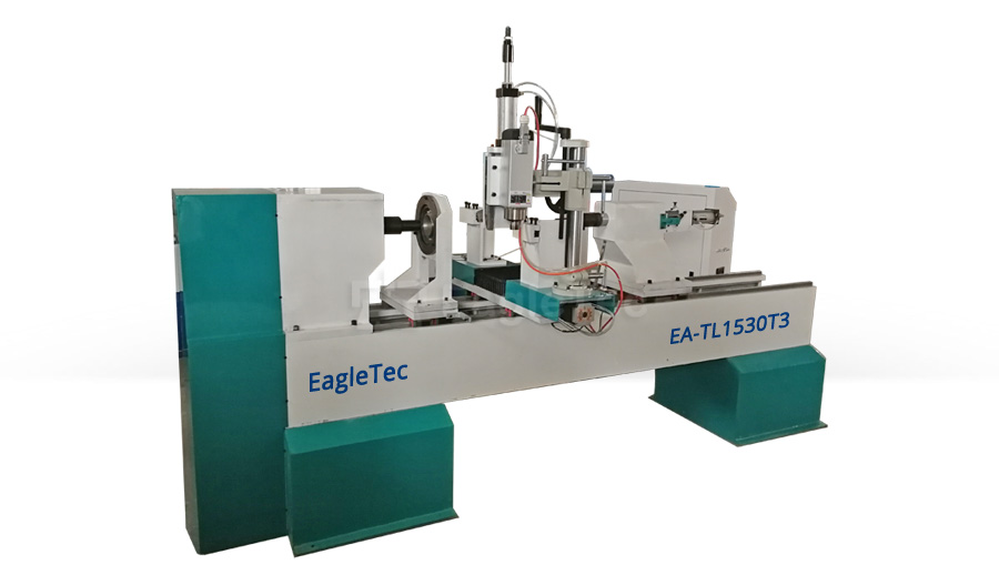 CNC Wood Lathe Machine with Rotary Spindle