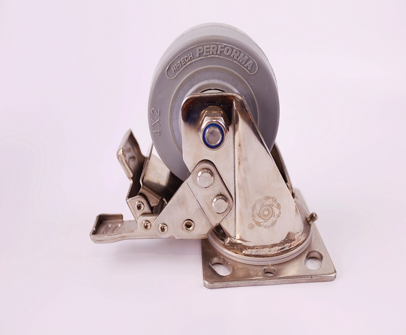 Caster with brake