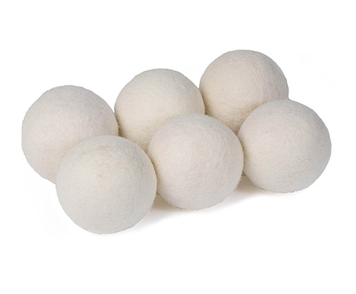 Cheap wholesale practical 8cm natural gray wool dryer ball