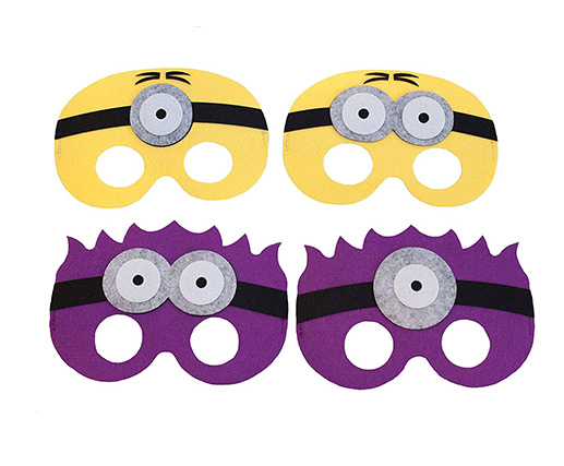cheap custom colorful halloween superhero felt masks