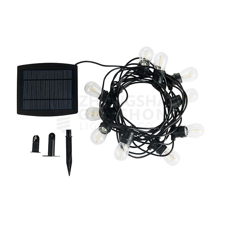 Outdoor commercial weatherproof string light of Sockets: 15