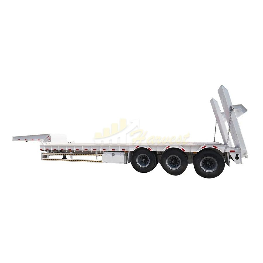 3 axles 45 ton lowbed cargo lowboy trailer