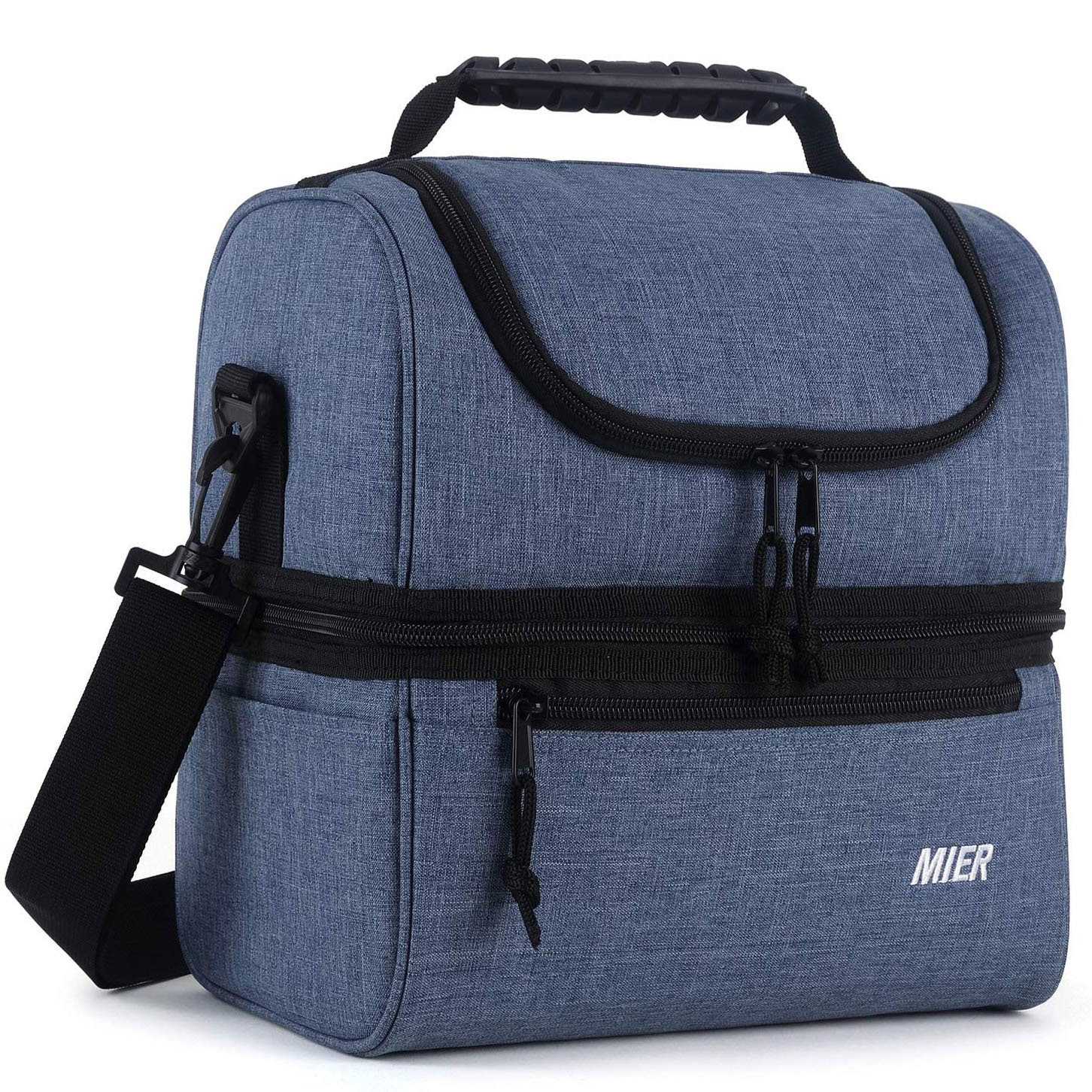 MIER Adult Insulated Lunch Bag Large Cooler Tote Bag