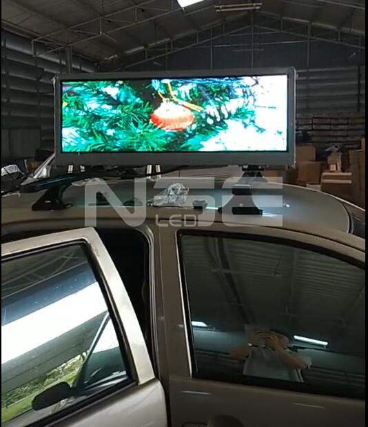Double Sided Full Color Taxi Sign In Malaysia  Taxi Topper LED Display