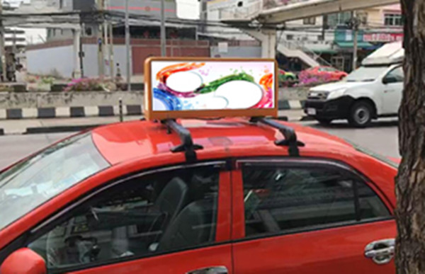 HD Outdoor WIFI&USB Taxi Top Advertising LED Display   Taxi Top LED Display China